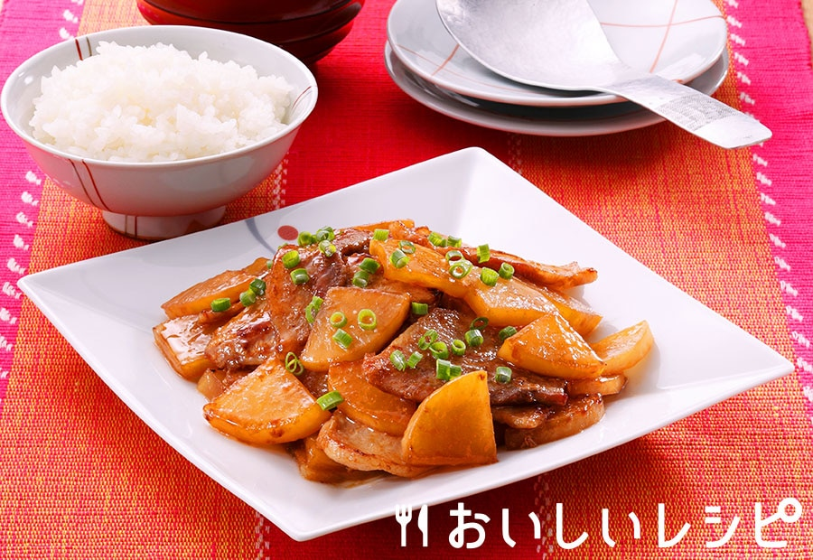 豚バラと大根の生姜ソテー