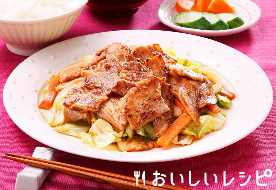 豚バラ野菜焼肉定食