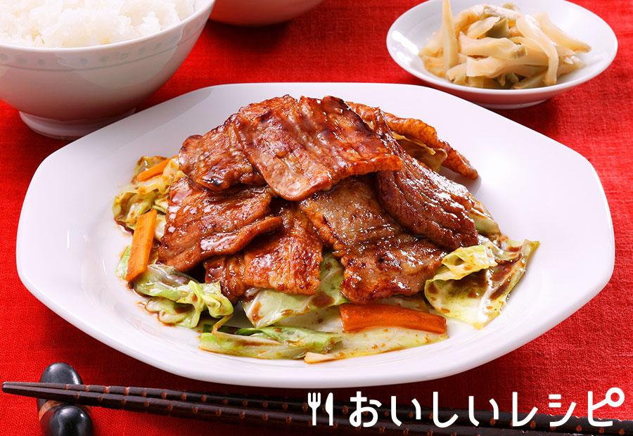 回鍋肉風豚焼肉定食