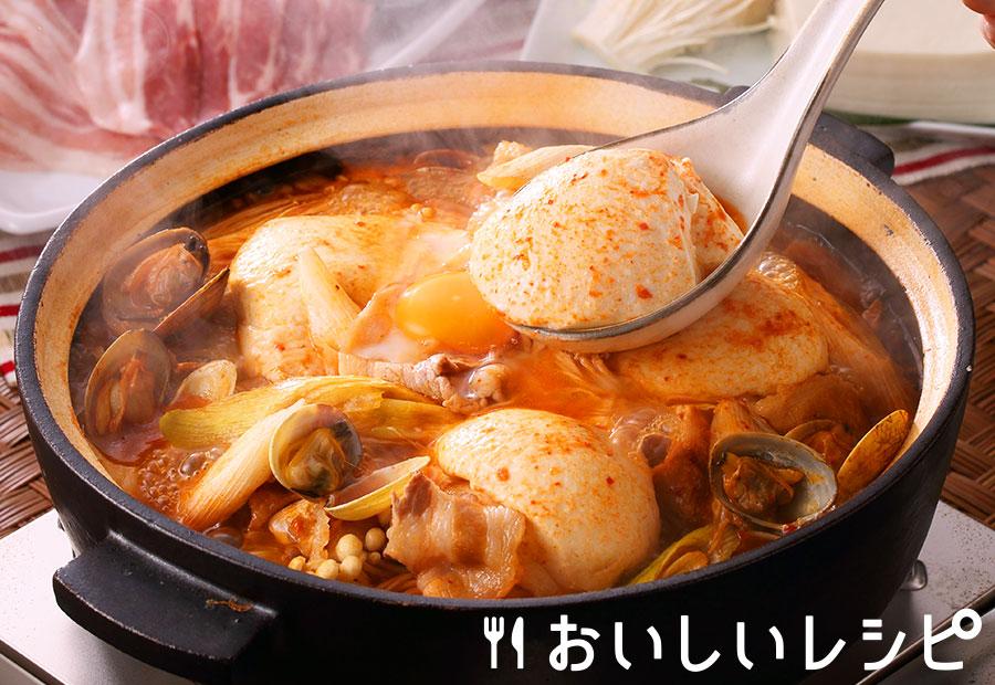 スンドゥブチゲ風キムチ鍋