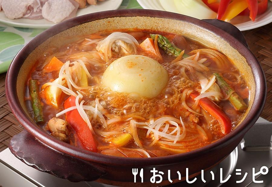 まるごとたまねぎのキムチ鍋