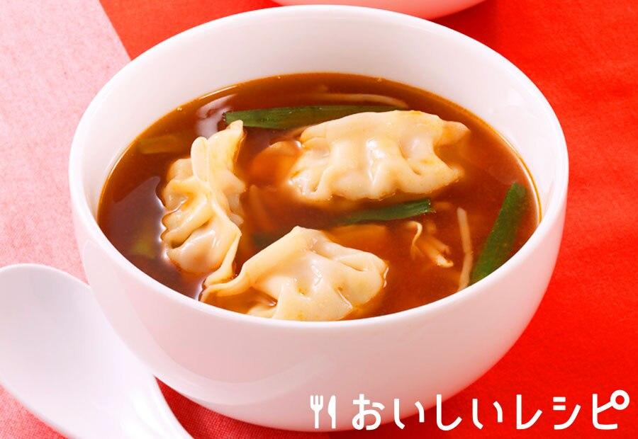 ピリ辛餃子スープ