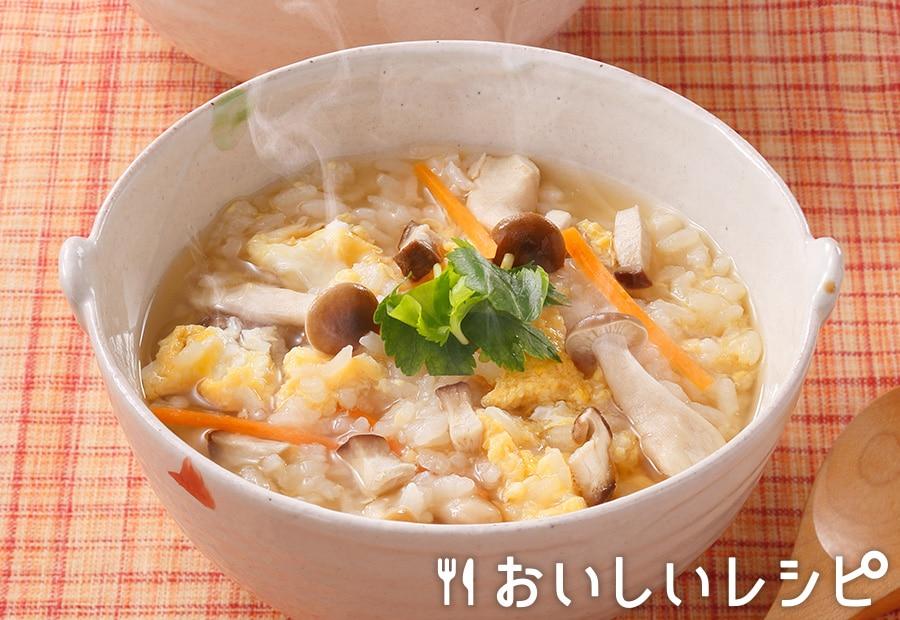 シンプルな卵雑炊