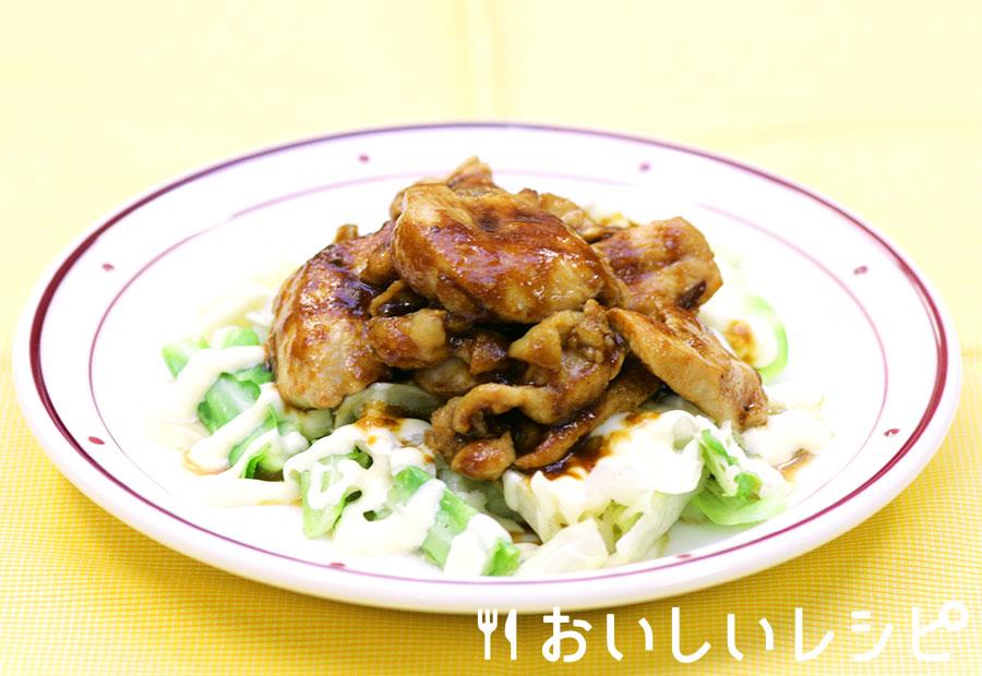 マヨキャベツの鶏肉のせ