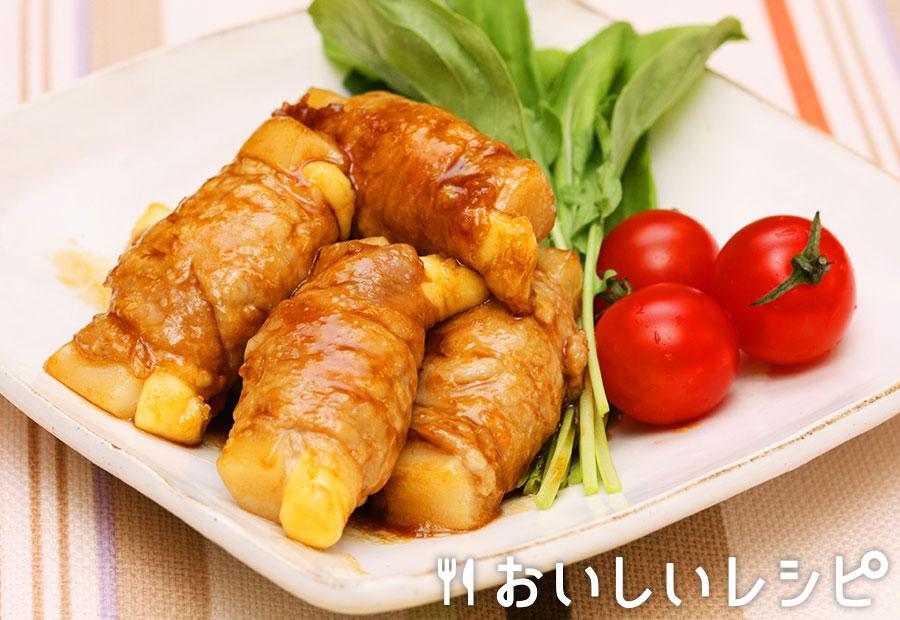 もちチーズの照り焼き豚ロール