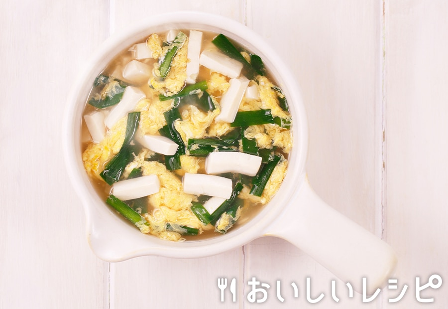 myおかずスープ ニラたま豆腐