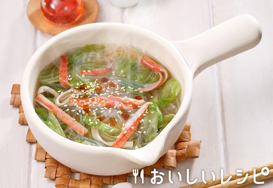 myおかずスープ かにかま&レタス