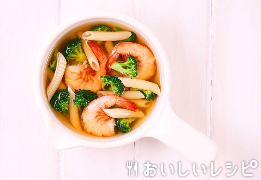 myおかずスープ エビとブロッコリーのスープスパ