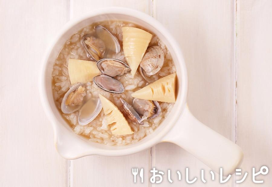 my主食スープ あさりと筍の雑炊