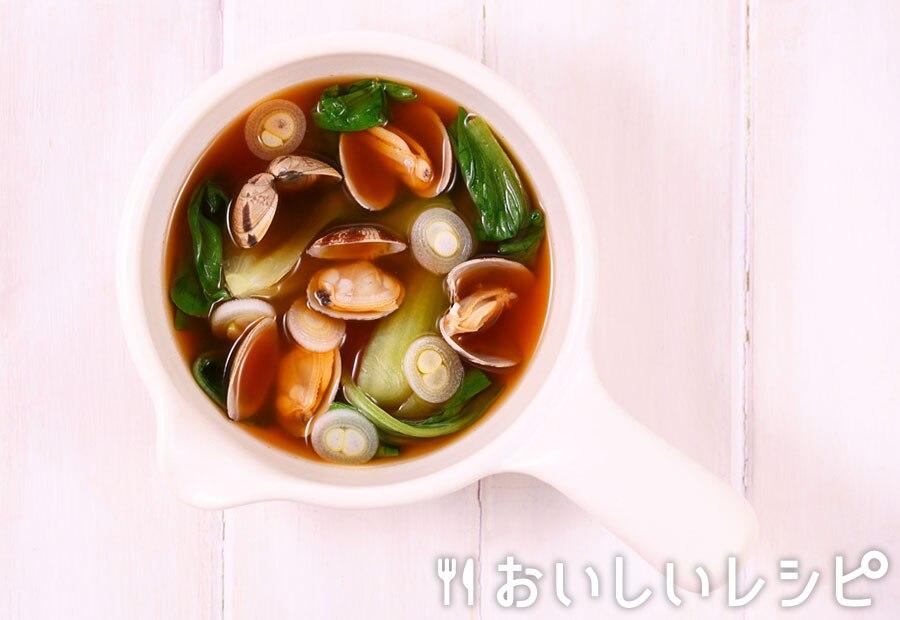 myおかずスープ ピリ辛!あさりとチンゲン菜