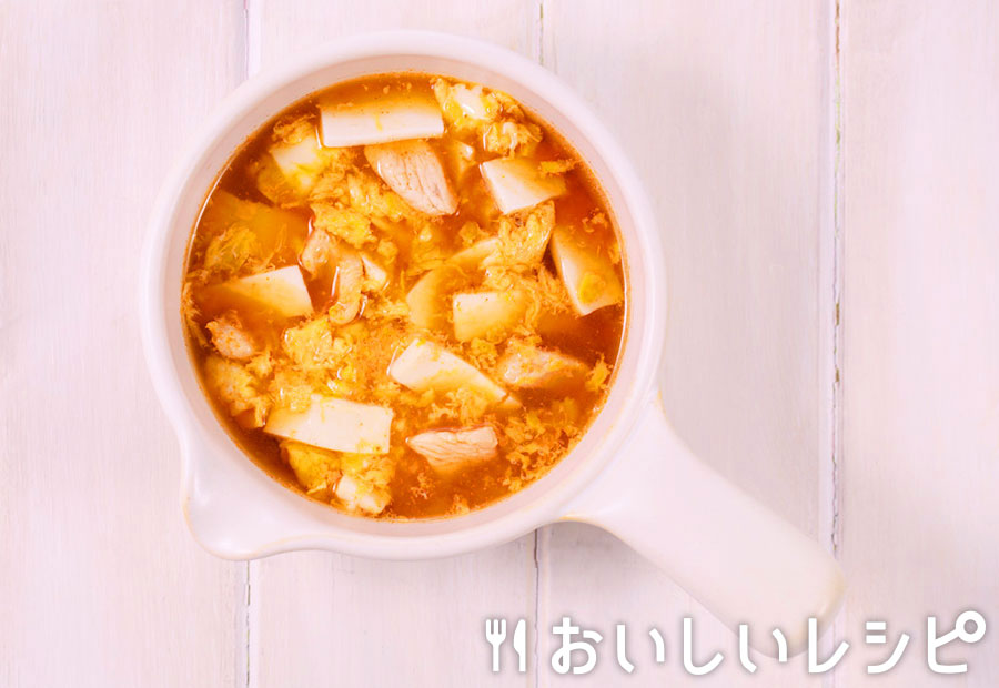 myおかずスープ ふんわり卵の酸辣湯