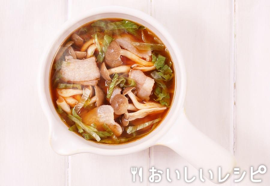 myおかずスープ 豚バラレタス