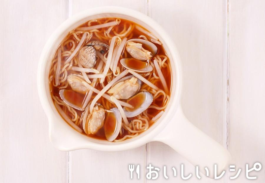 my主食スープ ピリ辛あさりラーメン