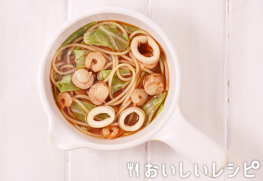 my主食スープ ピリ辛海鮮スープスパ