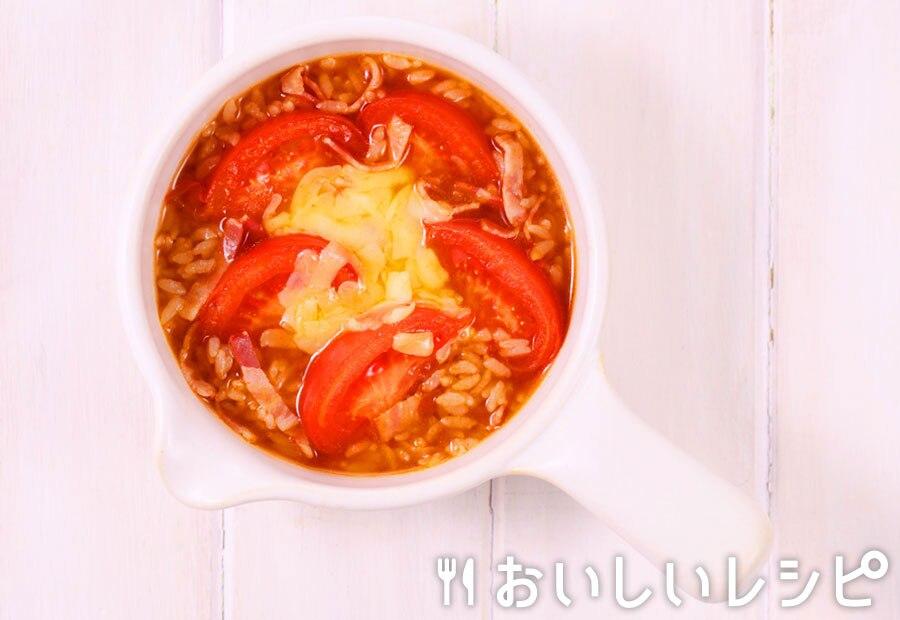myおかずスープ トマトとベーコンのキムチリゾット
