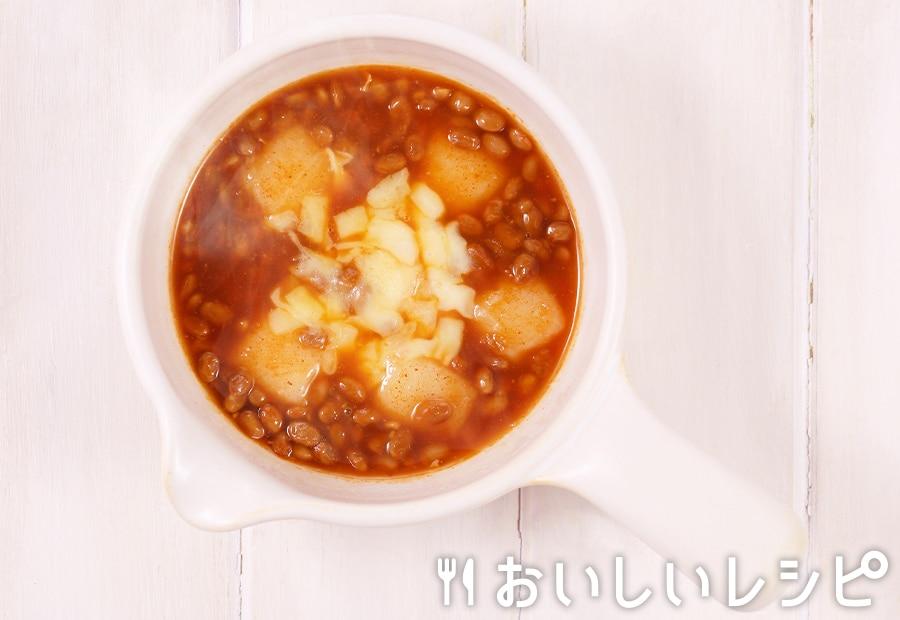 my主食スープ 納豆とチーズのお雑煮