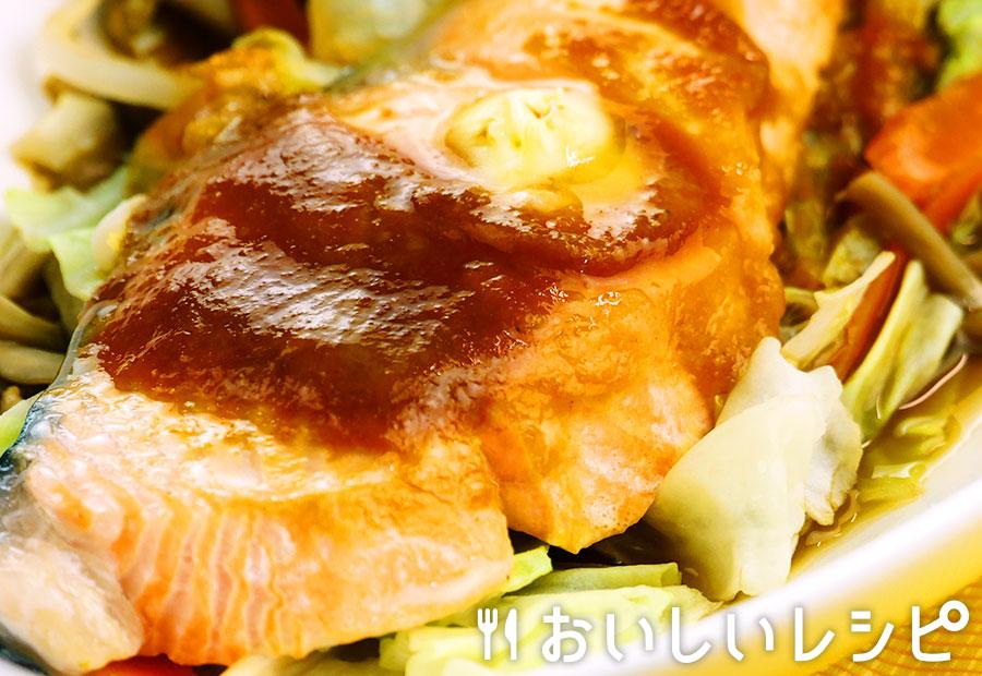 レンジで鮭のちゃんちゃん焼き