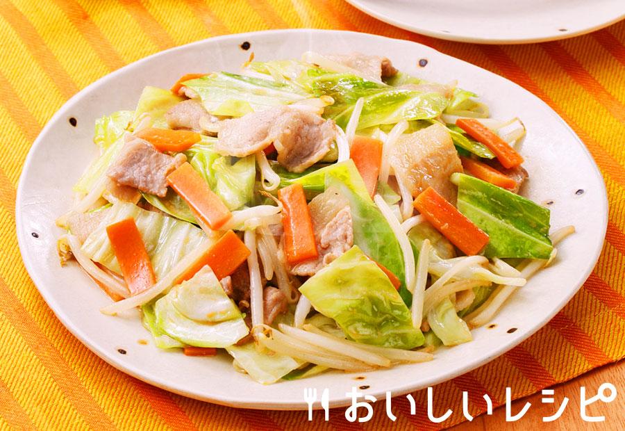 とんこつしょうゆの野菜炒め