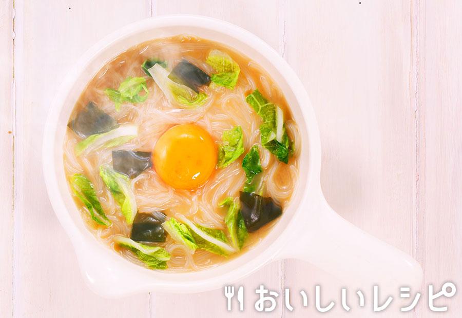 myおかずスープ 濃厚!月見春雨ヌードル