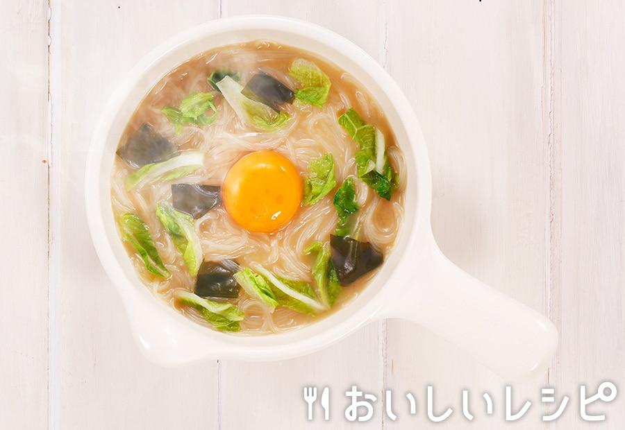 myおかずスープ 月見春雨スープ