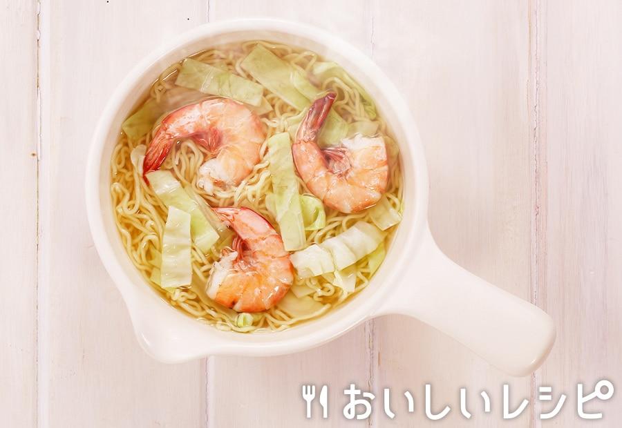 my主食スープ エビ塩ラーメン