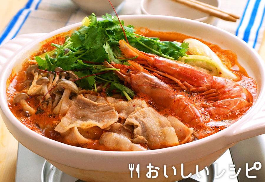 トムヤムクン風キムチ鍋