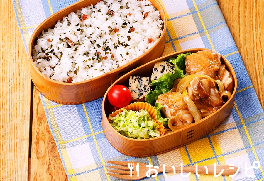 たれプラ弁当 鶏の生姜焼き