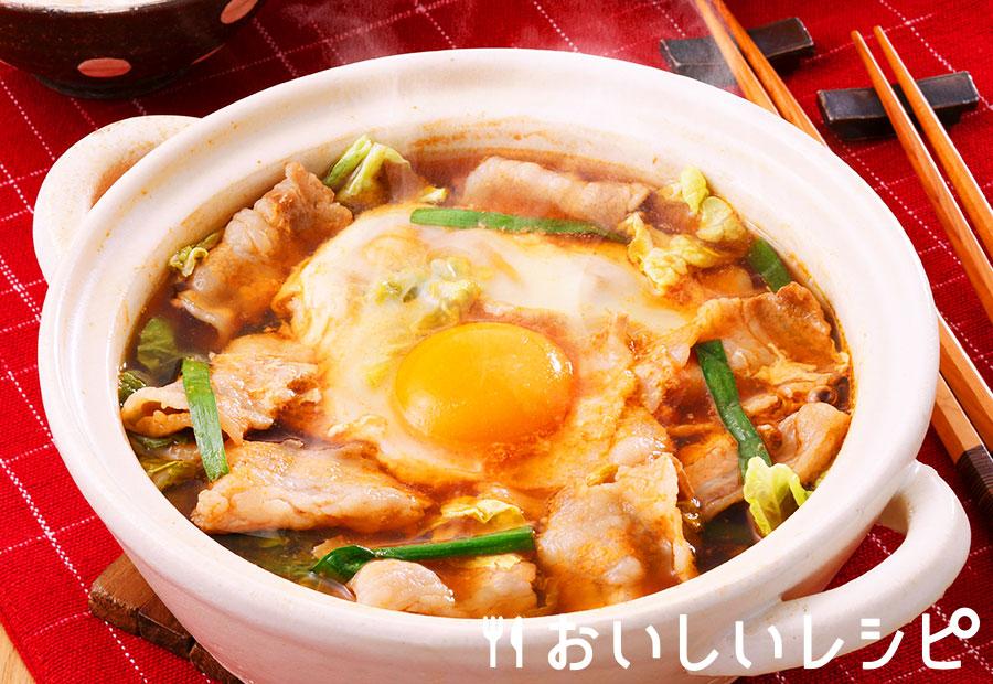 とろたまキムチ鍋
