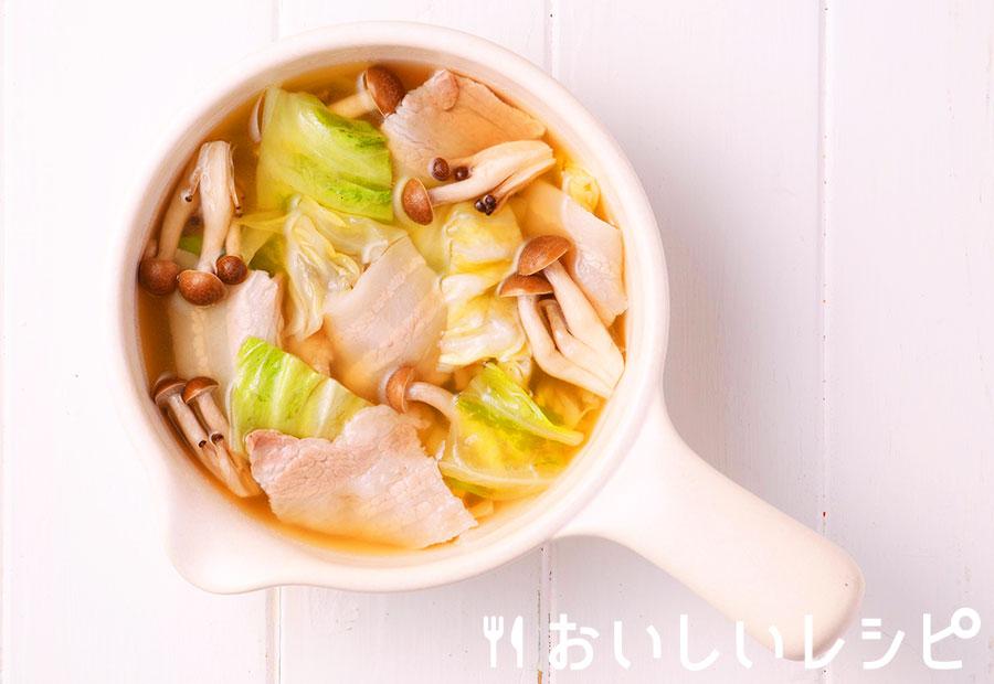 myおかずスープ きのことキャベツのちゃんこスープ