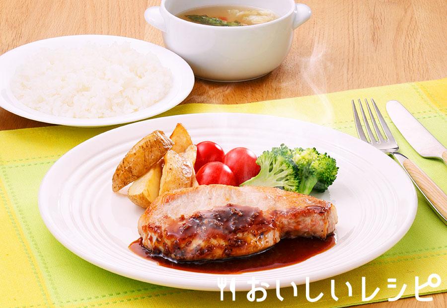 プチッとポークステーキ(にんにく醤油味)