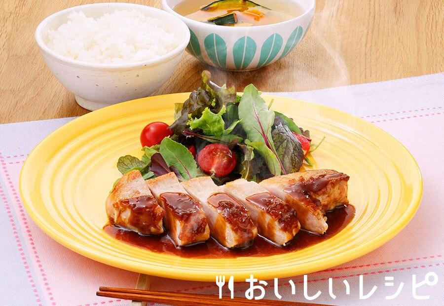 プチッとポークステーキ(玉ねぎ醤油味)