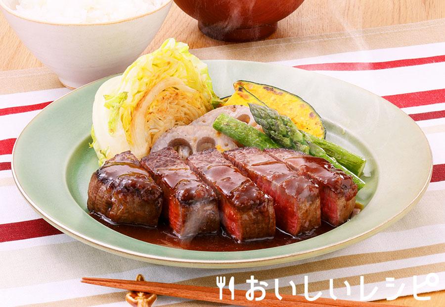 牛ヒレステーキ(玉ねぎ醤油味)