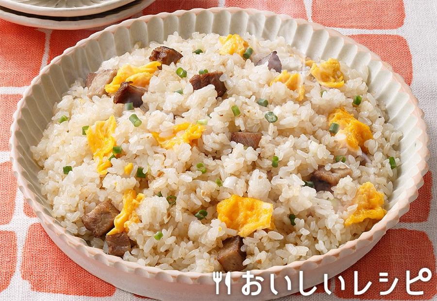 中華風チャーハン(オーブンレンジ使用)
