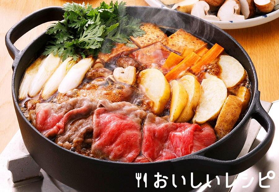 じゃがいもと牛肉のすき焼き