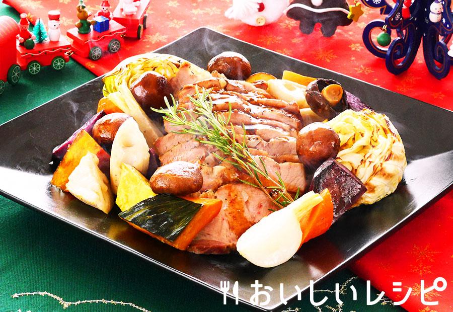 豚肉と野菜のどっさり焼き
