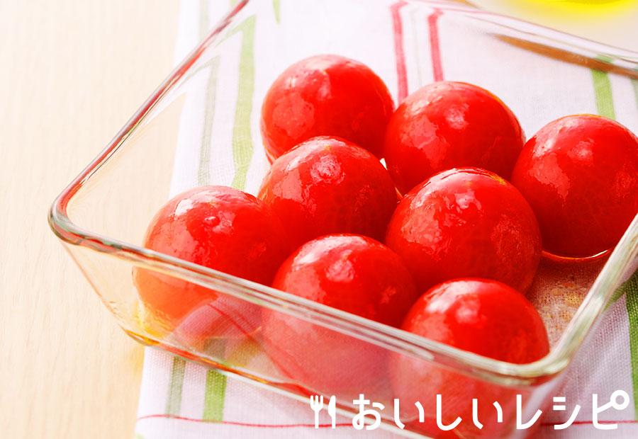 ひんやり冷凍ミニトマトの浅漬け
