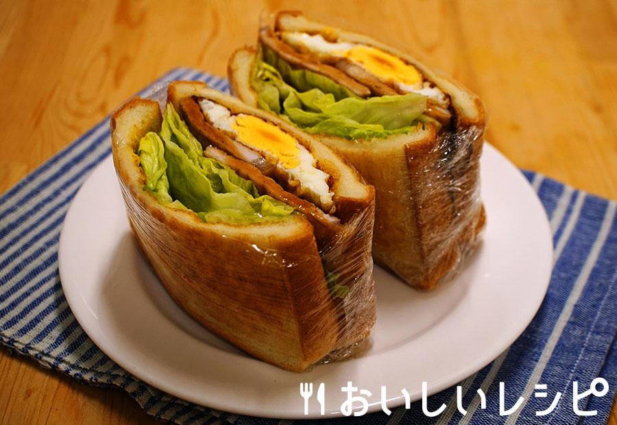 シャキシャキレタスの生姜焼きサンド