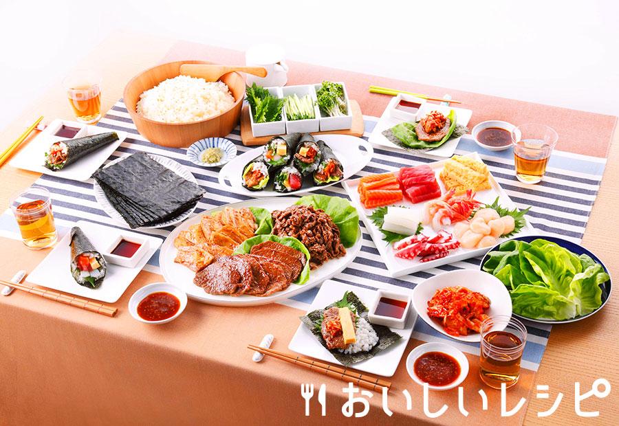 焼肉手巻き寿司