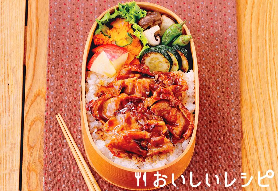 たれプラ弁当 豚の蒲焼き