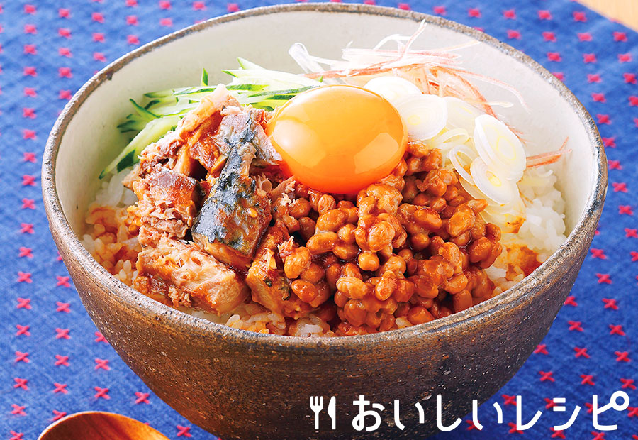 山形風サバ納豆丼
