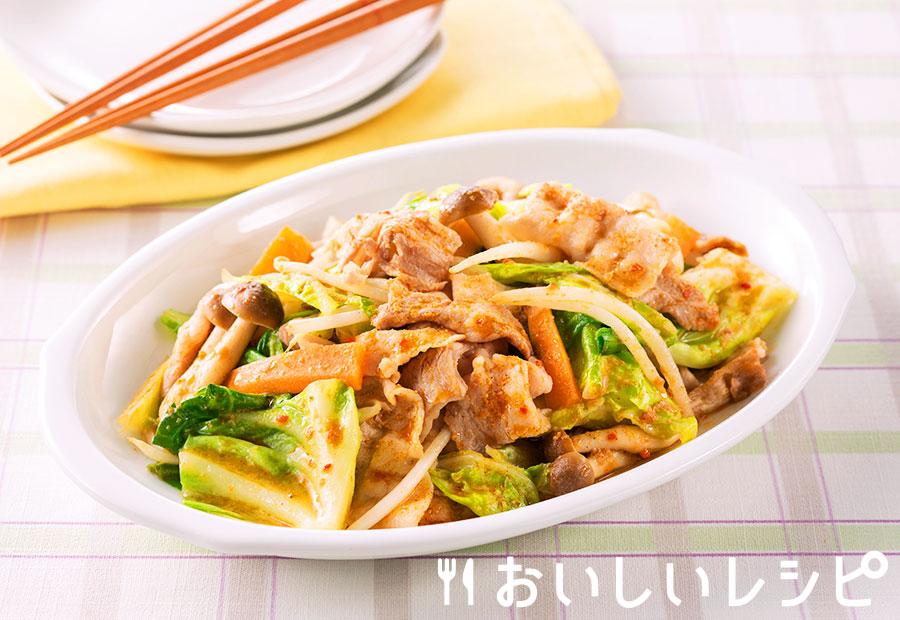 担々肉野菜炒め