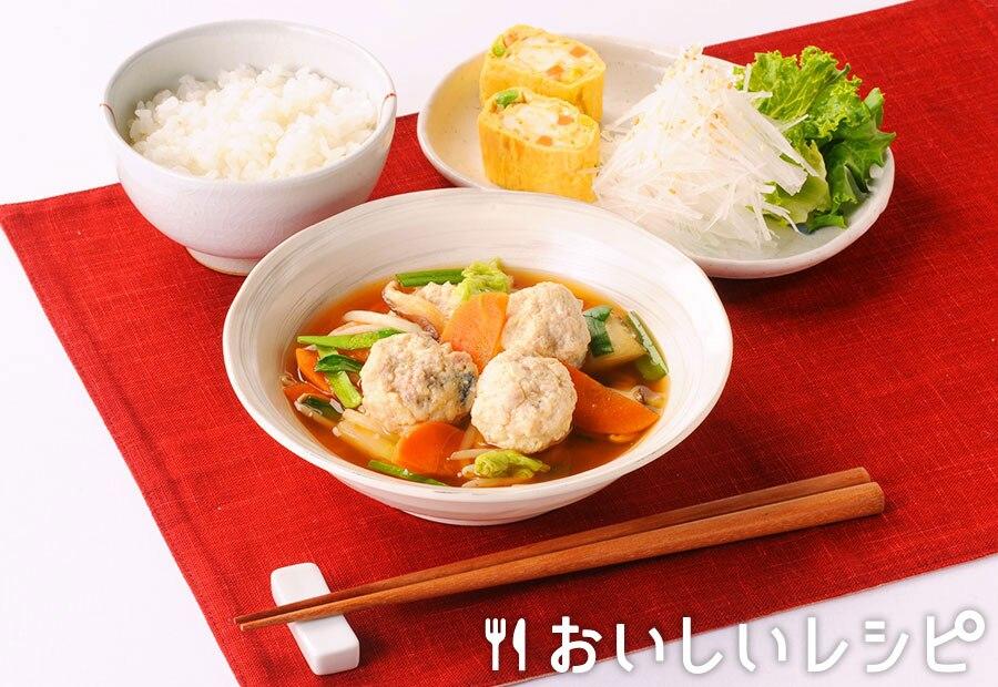 さば団子の韓国風黄金スープ煮