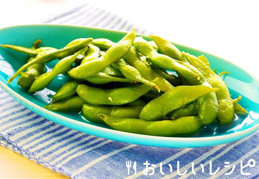 わさび風味の枝豆の浅漬け