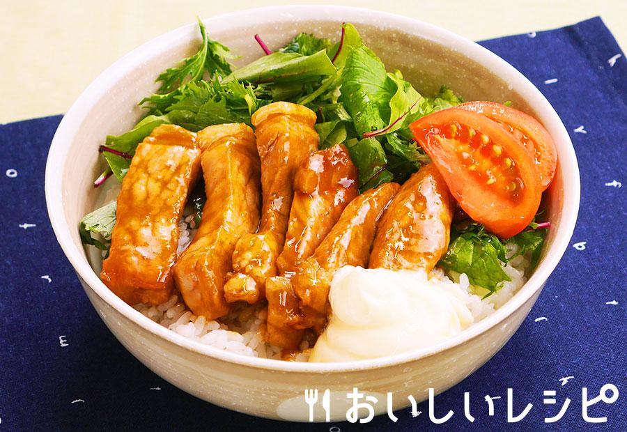 厚切り豚肉の生姜焼き丼