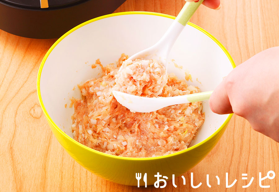 手作り鶏団子(Wスプーン製法)