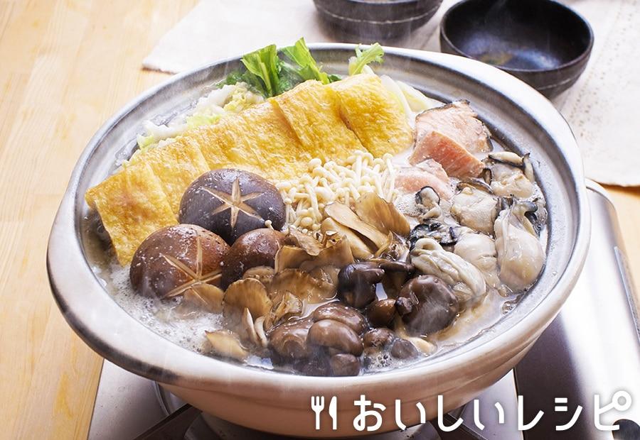 粕汁風きのこ鍋