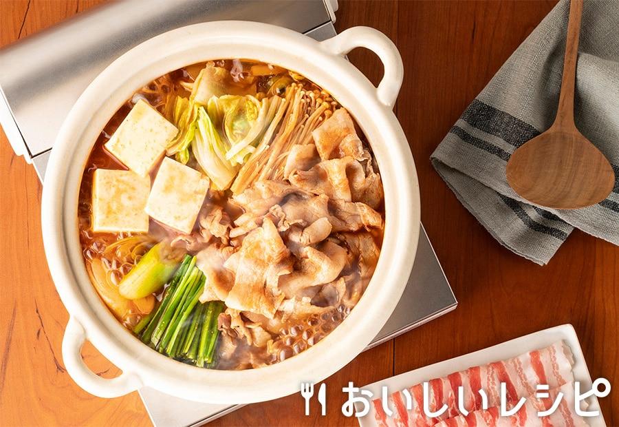 キムチ漬けの素で和風キムチ鍋