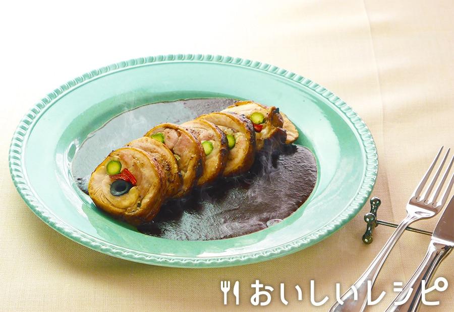 鶏肉のインボルティーニ