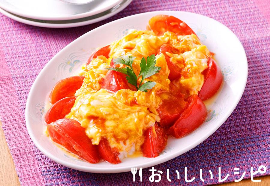 トマトと卵のチリソース炒め