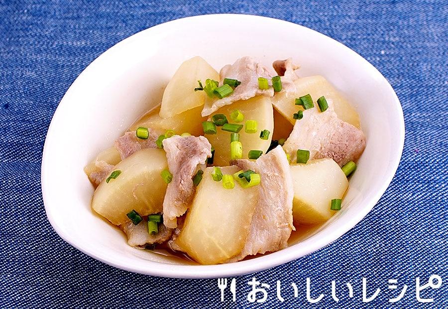 レンジと生姜焼のたれで♪大根と豚肉の生姜煮